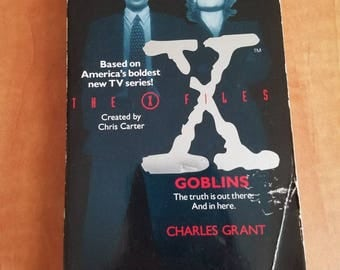 "Vintage X Files Fiction Book ""Goblins"" 1994"