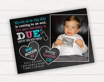 Pregnancy Announcement Big Brother Announcement Big Sister Announcement Baby Announcement Sibling Pregnancy Announcement