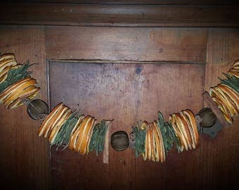 Dried Orange, Bay leaf, Key lime, and Cinnamon stick garland