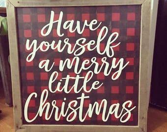 Personalized Printable Christmas Tags Red Plaid Christmas