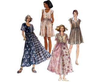 Culottes, Jumpsuit Dress, Misses 10 12 14, McCall's 6997, UNCUT, Pattern, Size 10, Size 12, Size 14, Skort, Split Skirt, Misses Rompers