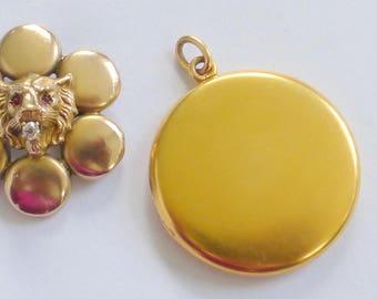 Huge heavy Antique 10k gold locket