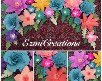Spring colors paper flower DIY kit