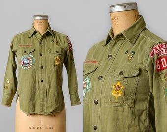 1940s Boy Scouts Of America Classic Army Twill Field Shirt Seattle Washington