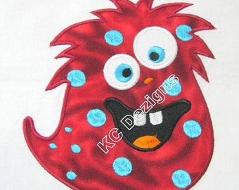 ON SALE Cute Monsters 02 Machine Applique Embroidery Design - 4x4, 5x7 & 6x8
