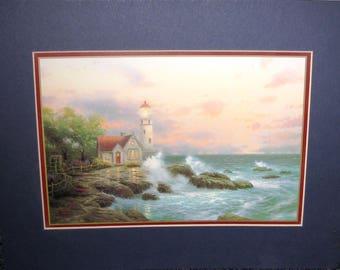 "AVON Art Print by Thomas Kinkade - ""Beacon of Hope"" with COA"