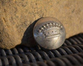 Rare Antique French Crown Button, Antique Livery Buttons, Vintage Supplies, French Livery Button T. W. & W | PARIS