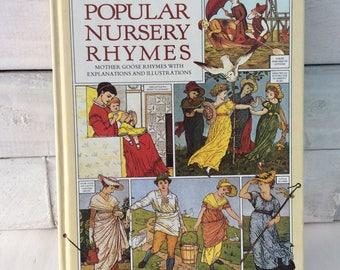 Nursery - Poems - Children's poetry - nursery decor - Mother Goose - Popular Nursery Rhymes Book -  gift for kids - classic children's book
