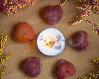 Small Carnelian Hearts
