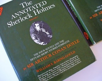 The Annotated Sherlock Holmes, a two-volume set, Sir Arthur Conan Doyle, Doctor Watson, Professor Moriarty, Baker Street Detective Fiction