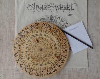 Cypher Wheel Cipher Disk Theban Ogham Enochian Celtic Rune Scripts Cryptography