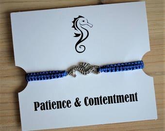 Seahorse Bracelet Nautical Macrame Bracelet Friendship Bracelets - You Pick Color - Ocean Bracelets Bridesmaid Bracelets Jewelry Accessories