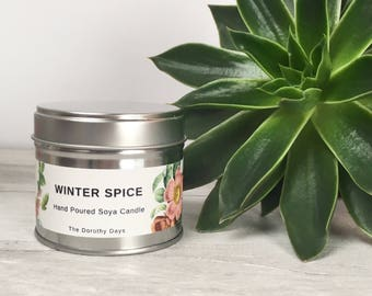 Winter spice candle, Christmas scented candle, Christmas Spice candle, winter candle, xmas candle, gingerbread, cinnamon candle, soy wax