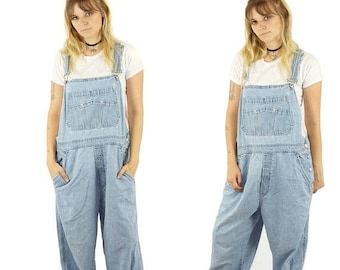 ON SALE Distressed 90s Gap Baggy Overalls, 90s Grunge, Vintage Dungarees, 90s Overalls Pants, Women's Size Large
