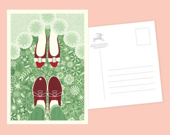 Newlyweds Postcard or Postcard Set - Inspired by Lithuania Series