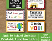 Back to School Lunch Box Notes   Printable Lunchbox Notes for Kids   Scripture Lunch Box Note   Bible Verse Lunch Love Notes   DIY PRINTABLE