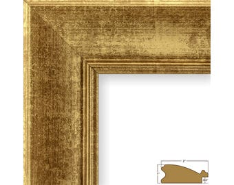 """Craig Frames, 16x20 Inch Vintage Gold Picture Frame, 2"""" Wide (2123151620)"""