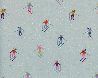 PRESALE - Frost - Ski Peeps in Aqua - Cotton + Steel Collab - 5189-001 - Half Yard