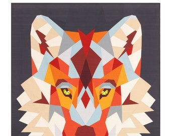 """PRESALE - Violet Craft - Wolf Abstractions Pattern - 60"""" x 65"""" - VCWA-024"""