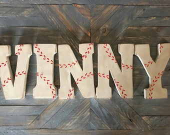 Baseball Wall Decor Bedroom Used Sign Boys Room Fan