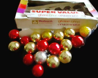 1960s Mercury Glass  Ornaments Woolworth's 17 balls plus 1 Steelers Ball