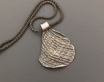 Sterling silver Ripple pendant Necklace