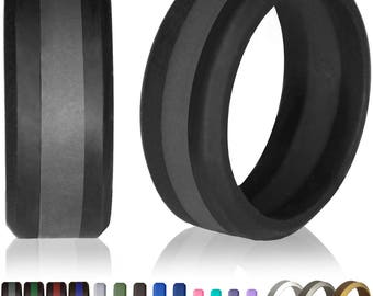 rubber wedding band etsy
