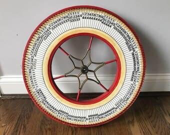 "Vintage 20"" Gambling Carnival Ticker Wheel"