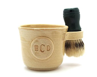 Shaving Mug with a Monogram Brush Not Included Valentines Day Husband Gift Made to Order in 4 to 6 Weeks See Item Details