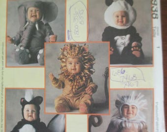 McCalls 8938 Childs Halloween Costume Toddlers size 1 paper pattern un-cut