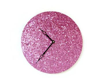 Pink Wall Clock, Home Decor, Home and Living,  Unique Wall Clocks, Decor & Housewares, Wall Decor, Unique Gift