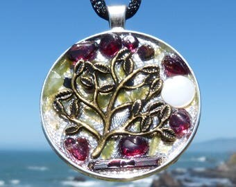 Tree of Life. NEW Tactile Collection. Touch the Rutile, Jade and Garnets. Mandala. Chakra Harmony!