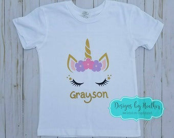 Unicorn Shirt, Personalized Unicorn Shirt, Unicorn Toddler Shirt, Personalized Girl's Shirt, Unicorn T-Shirt, Birthday Shirt, Unicorn Theme