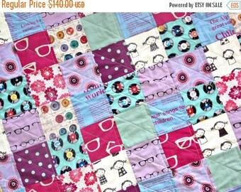 FLASH QUILT SALE Modern Baby Quilt - Gender Neutral Crib Quilt - Echino Fabrics