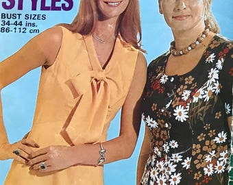 Vintage 70's Styles Enid Gilchrist Bust Sizes 34-44 inches (86-112 cms) Pattern Book