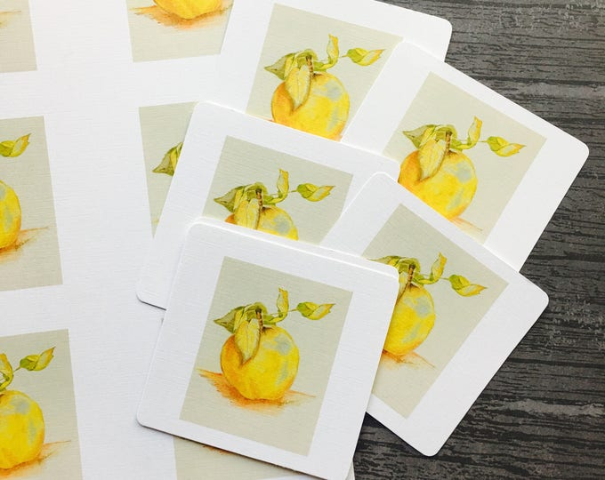 Apple Cards Six Notebook Journal Scrapebook Small Cards, Harvest notebooking, Apple Clipart, Apples Notebook Cards