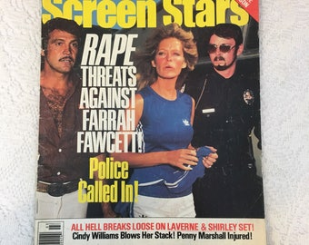 Screen Stars magazine, March 1977, Farrah Fawcett, vintage magazine