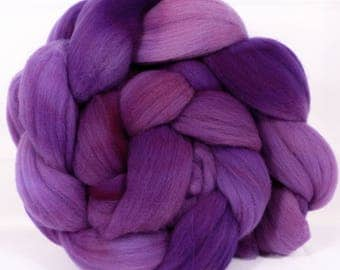 Hand- dyed Rambouillet Top ( 4.8 oz. ) - Amethyst