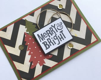 Merry & Bright Card **Ready To Ship**