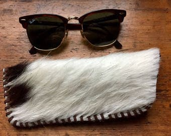 Glasses case, sunglass case, cowhide glasses Case