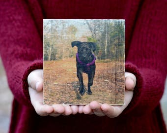 Wood Photo • Personalized Gift For Boyfriend • Photo Gift For Him • Photo Gift For Mom • Wooden Photo transfer