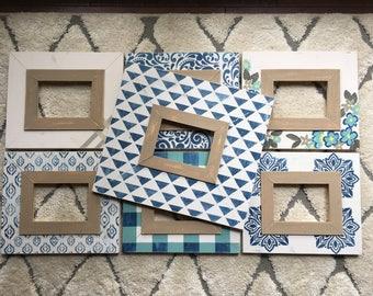 Handmade Grouping of 7 Picture Frames, all 5x7, Beach Starter Kit