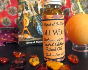 Gold Witch: Autumn 2017 Limited Edition Ritual Oil - Devotional Oil for Gullveig and Freyja - 100% Natural