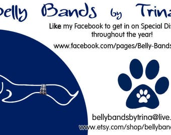 Please Read Listing, Not For Sale listing, Male Dog Belly Bands