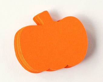 Paper Pumpkins - Thanksgivings Die Cuts - Pumpkin Shaped Paper - Pumpkin Cutouts - Fall Die Cuts - Thanksgiving Scrapbook Embellishment