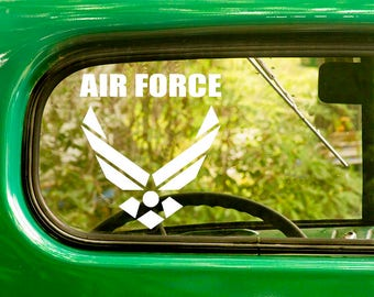 2 Air Force Decals, Air Force Sticker,  US Military Decal, Military sticker, Car Decal, Laptop Sticker, Bulk Decals, Wholesale