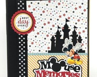 25% OFF SALE Disney Scrapbook Album DIY Kit or Premade Vacation 24 pages