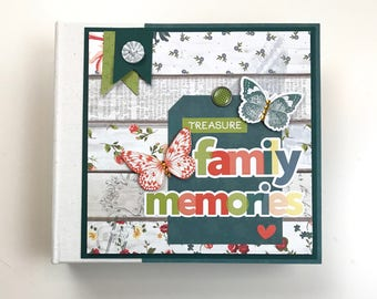 Family Scrapbook Kit or Premade Album 16 pages 6x6 inch Binder album