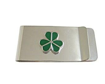 Green Shamrock Clover Money Clip