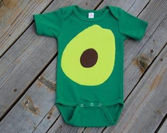 Baby Avocado Bodysuit, Avocado Costume, Vegan Costume